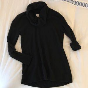 Merona Cowlneck Black Sweater Tunic
